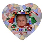 Baby s First Christmas 2010 - Ornament (Heart)