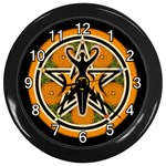 WICCA PENAGRAM GODDESS PENTACLE WALL CLOCK (BLACK)