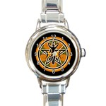 WICCA PENAGRAM GODDESS PENTACLE ROUND ITALIAN CHARM WATCH