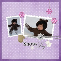 Snow Fun Quickpages By Jennyl   Scrapbook Page 12  X 12    Woh1uxhjdbhh   Www Artscow Com 12 x12 Scrapbook Page - 1