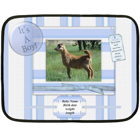 Baby Boy By Kristin   Fleece Blanket (mini)   R2tyoko5dbge   Www Artscow Com 35 x27 Blanket