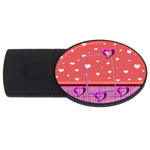 Heart U By Daniela   Usb Flash Drive Oval (1 Gb)   7af44bhv11el   Www Artscow Com Front