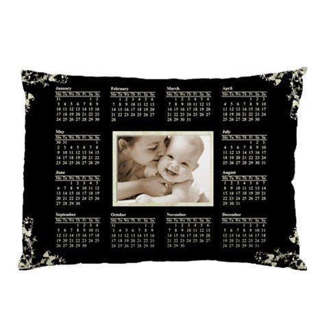 2011 Calendar Pillowcase Creme Swirls By Catvinnat   Pillow Case   Gufm3ne98mg8   Www Artscow Com 26.62 x18.9 Pillow Case