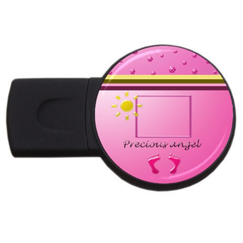 It s A Girl   2gb Usb By Daniela   Usb Flash Drive Round (2 Gb)   Xserw7jk824i   Www Artscow Com Front
