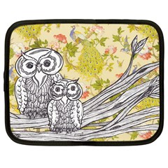 Owls 101 Netbook Case (Large) by kewzooA