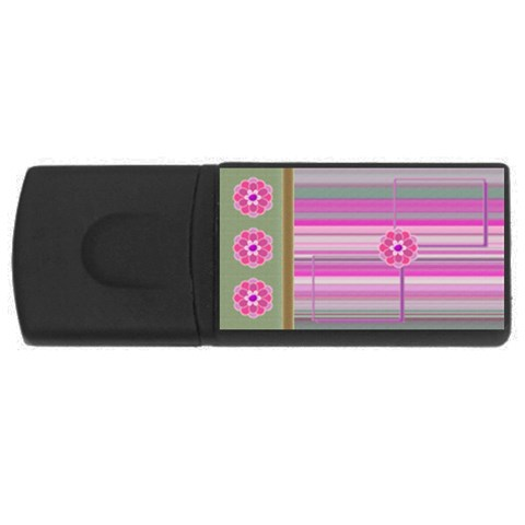 Purple Flower   2gb Usb By Daniela   Usb Flash Drive Rectangular (2 Gb)   Exrfoh9v29rm   Www Artscow Com Front