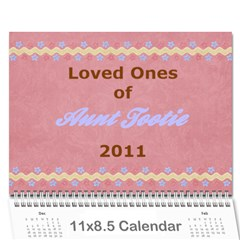Tootie s Calendar 2011 By Colton   Wall Calendar 11  X 8 5  (12 Months)   Zf22bsarftx1   Www Artscow Com Cover