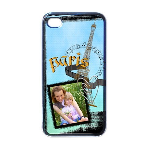Paris By Joely   Apple Iphone 4 Case (black)   Sygz0k2w4vhd   Www Artscow Com Front