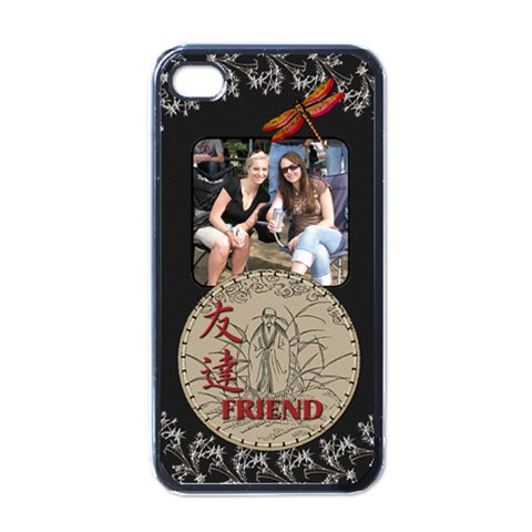 Friend Apple Iphone 4 Case By Lil    Apple Iphone 4 Case (black)   Ow5z3ijclzy8   Www Artscow Com Front