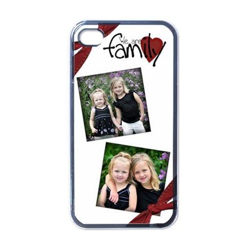 We Are Family Iphone Case By Amanda Bunn   Apple Iphone 4 Case (black)   Rnzan9ffhdx9   Www Artscow Com Front