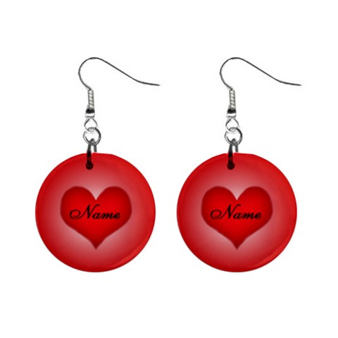 Love Earrings By Pidgey Be   1  Button Earrings   1jaww1rppahu   Www Artscow Com Front