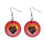 Photo love earrings - 1  Button Earrings