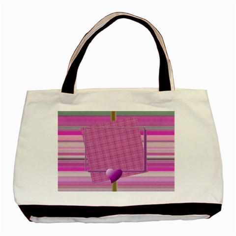 Purple Hearts Tote By Daniela   Basic Tote Bag   Bs37e23xu5pg   Www Artscow Com Front