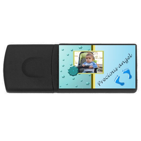Precious Angel Boy  1gb Usb By Daniela   Usb Flash Drive Rectangular (1 Gb)   Cppt6tehi9q4   Www Artscow Com Front