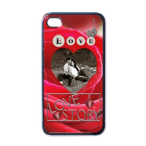 Love Story Apple Iphone 4 Case By Lil    Apple Iphone 4 Case (black)   7bfe59lrdjnz   Www Artscow Com Front