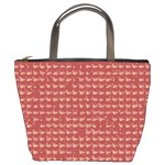 Red Mosaic Custom Bucket Bag