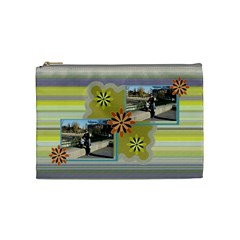 Flowers Cosmetic Bag   Medium By Daniela   Cosmetic Bag (medium)   0n4hyeap14vc   Www Artscow Com Front