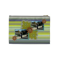 Flowers Cosmetic Bag   Medium By Daniela   Cosmetic Bag (medium)   0n4hyeap14vc   Www Artscow Com Back