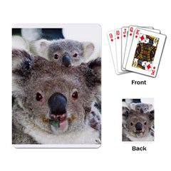Koala Bear and Baby Playing Cards Single Design by photogiftanimaldesigns