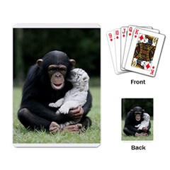 Chimp Playing Cards Single Design by photogiftanimaldesigns