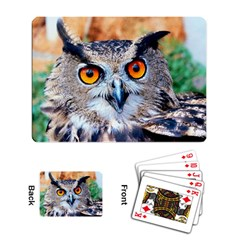 Owl Playing Cards Single Design by photogiftanimaldesigns