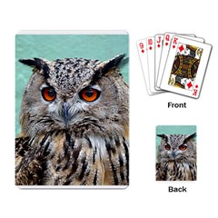 Owl 2 Playing Cards Single Design by photogiftanimaldesigns