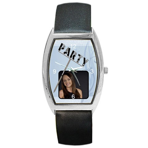 Party Barrel Style Metal Watch By Lil    Barrel Style Metal Watch   4q9duaftkiqx   Www Artscow Com Front