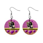 Heart U earings - 1  Button Earrings