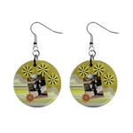 Yellow Petal earings - 1  Button Earrings