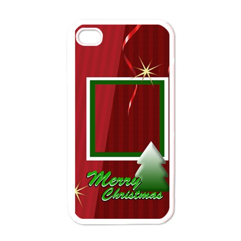 Merry Christmas Gift By Clince   Apple Iphone 4 Case (white)   6am7tzs4010h   Www Artscow Com Front