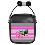 Purple flowers - Girls Sling Bag