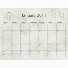 Rescue Calander By Tracy Caccavella Perrin   Wall Calendar 11  X 8 5  (12 Months)   Bkd98l6kn8hs   Www Artscow Com Jan 2011