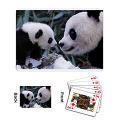 Panda and Baby Playing Cards Single Design by photogiftanimaldesigns