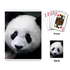 Panda Face Playing Cards Single Design by photogiftanimaldesigns