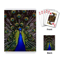 Peacock 2 Playing Cards Single Design by photogiftanimaldesigns