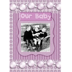 Our Baby Card By Danielle Christiansen   Greeting Card 5  X 7    Rlqoqd8it2kx   Www Artscow Com Front Cover
