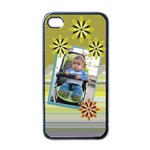 Yellow petal iphone 4 case - Apple iPhone 4 Case (Black)