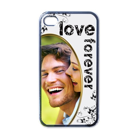 Love Forever Valentine Monochrome  I Phone Case By Catvinnat   Apple Iphone 4 Case (black)   Gvgnf0j2qiay   Www Artscow Com Front