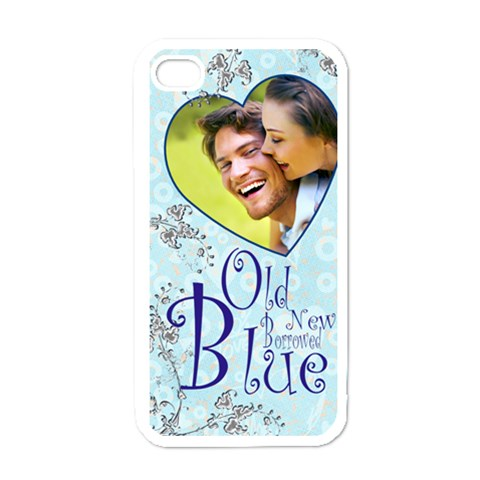 Old New Borrowed Blue Bridal I Phone Cover By Catvinnat   Apple Iphone 4 Case (white)   8rourueoh1pi   Www Artscow Com Front