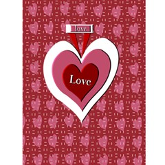 Hugs & Kisses Card By Danielle Christiansen   Greeting Card 4 5  X 6    X6b4qz79c4xn   Www Artscow Com Back Cover