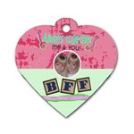 best friends forever heart dog tag - Dog Tag Heart (One Side)