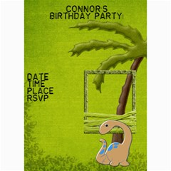 Dinosaur Birthday Invitation By Lisa Minor   5  X 7  Photo Cards   Lnk205jqxi27   Www Artscow Com 7 x5  Photo Card - 5