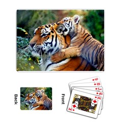 Tiger and Baby Playing Cards Single Design by photogiftanimaldesigns