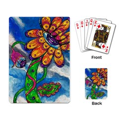 Alien Eye Flower Playing Cards Single Design by kewzooA