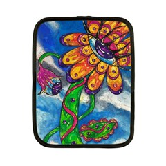 Alien Eye Flower Netbook Case (Small) by kewzooA