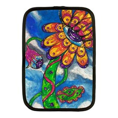 Alien Eye Flower Netbook Case (Medium) by kewzooA