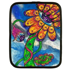 Alien Eye Flower Netbook Case (Large) by kewzooA