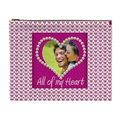 All Of My Heart Extra Large Cosmetic Bag By Catvinnat   Cosmetic Bag (xl)   P7ef6b53smrm   Www Artscow Com Front