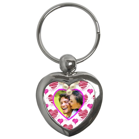All Of My Heart Valentines Heart Keyring By Catvinnat   Key Chain (heart)   9nun8dwimtfk   Www Artscow Com Front