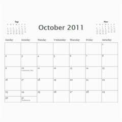 Family Calendar By Marcela   Wall Calendar 11  X 8 5  (12 Months)   Onvsio4wvxt5   Www Artscow Com Oct 2011